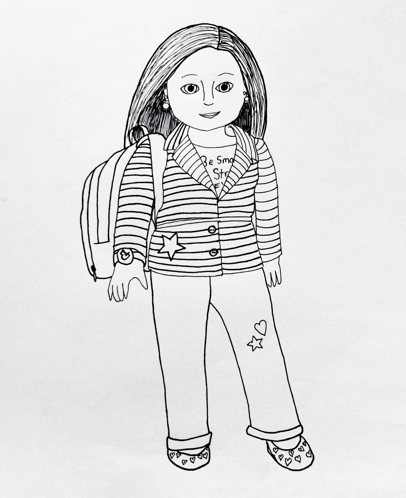 j american girl coloring pages - photo #12