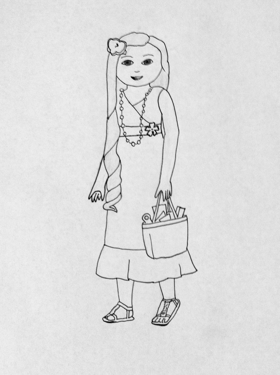 More american girl coloring pages for Big girl coloring pages