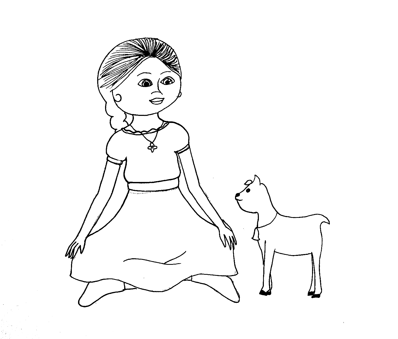 Free Coloring Pages Of American Girl Kaya American Coloring Pages Lea