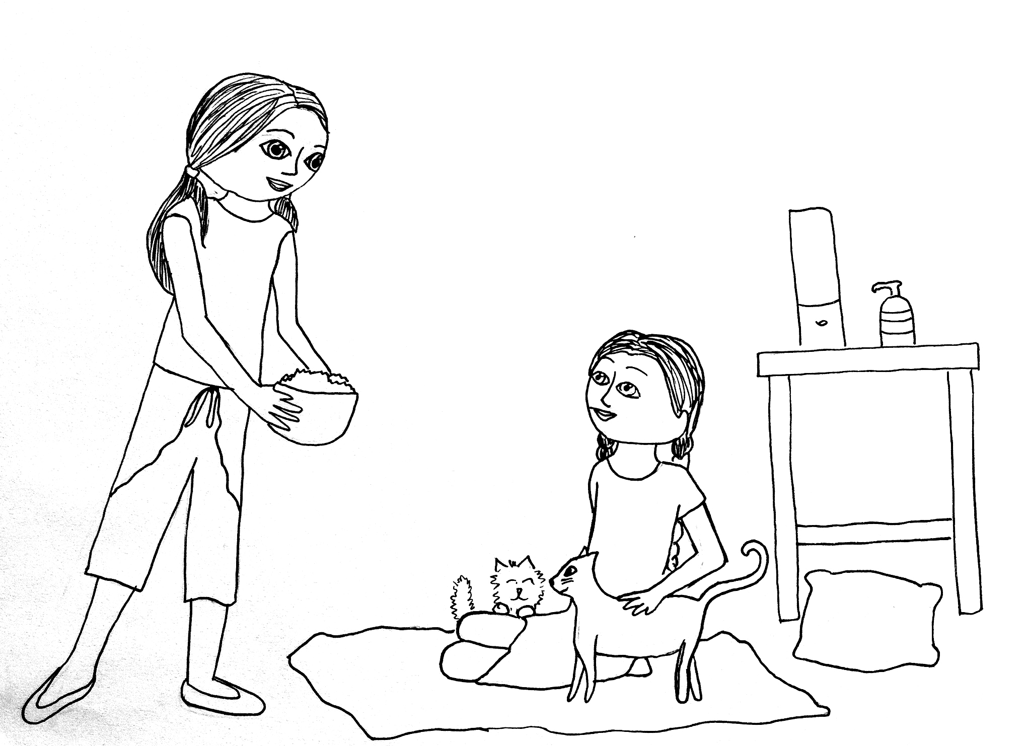 The gallery for american girl doll isabelle coloring pages for American girl doll coloring page