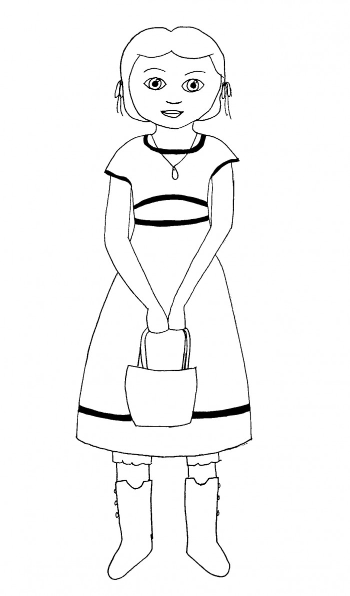 american girl coloring pages rebecca   American Girl Coloring Pages: Beforever