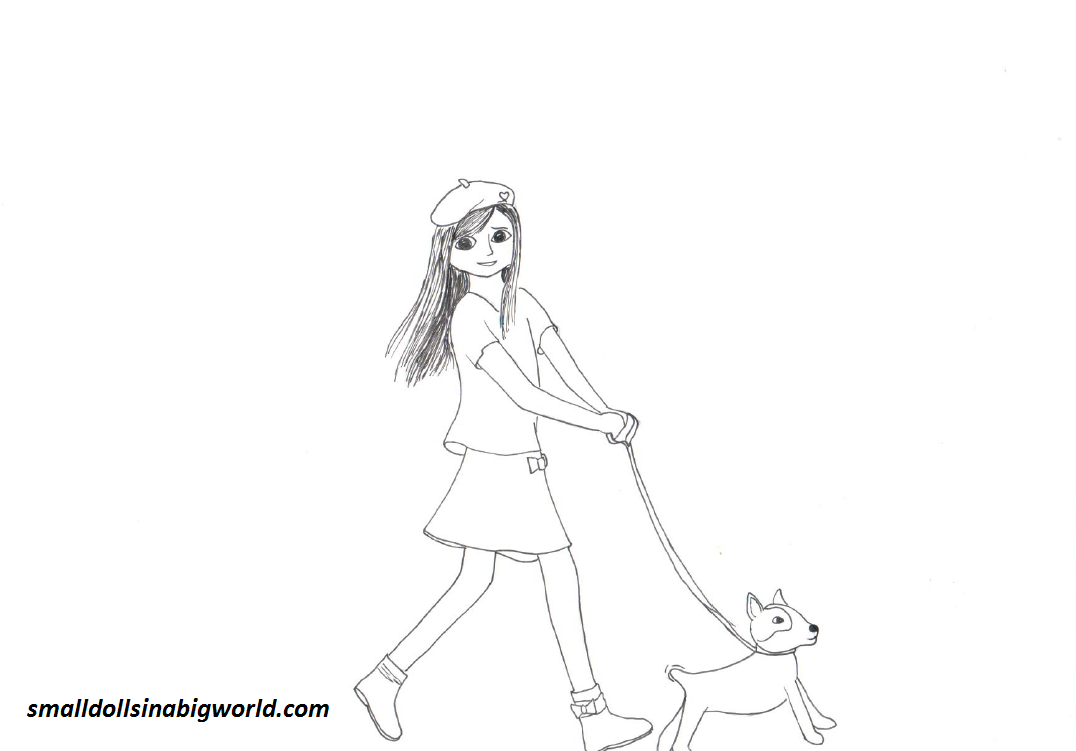 Grace coloring page 4 for American girl doll coloring page