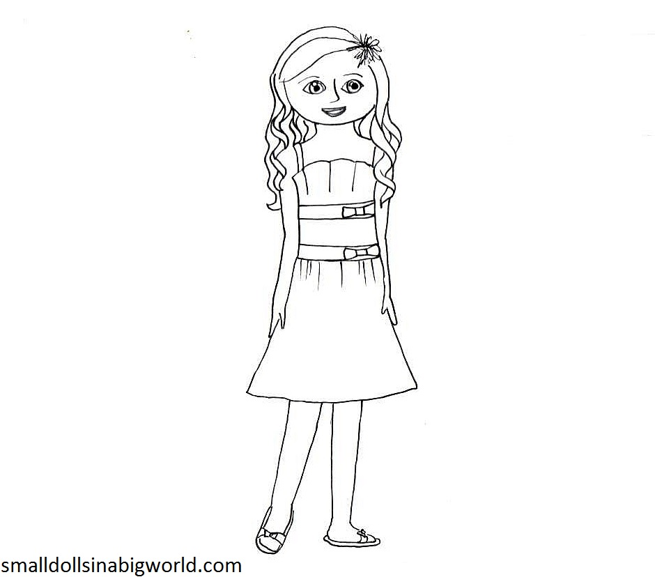 coloring doll suggestions - American Girl Coloring Pages Grace