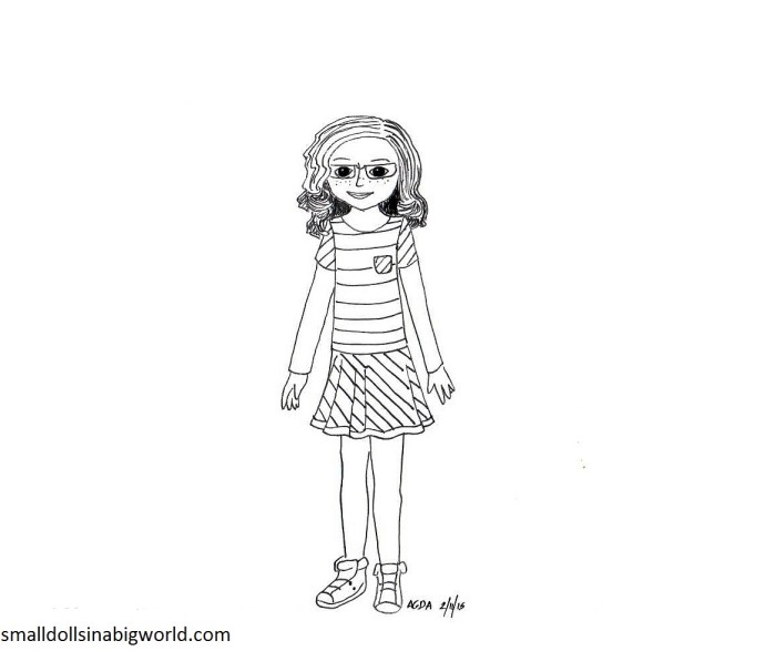 Coloring Pages Of American Girl Doll  Alltoys for