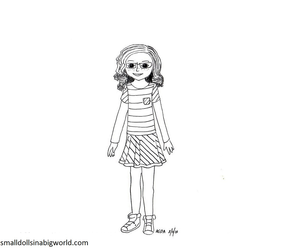 American girl pages to color - My American Girl Coloring Pages