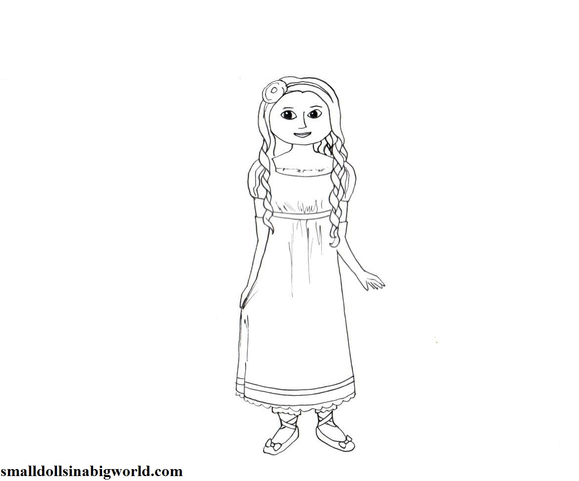 50 rebeca the american girl colouring pages