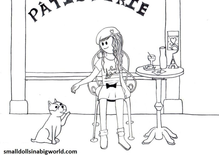 Girl Doll Coloring Pages To Print Ideas