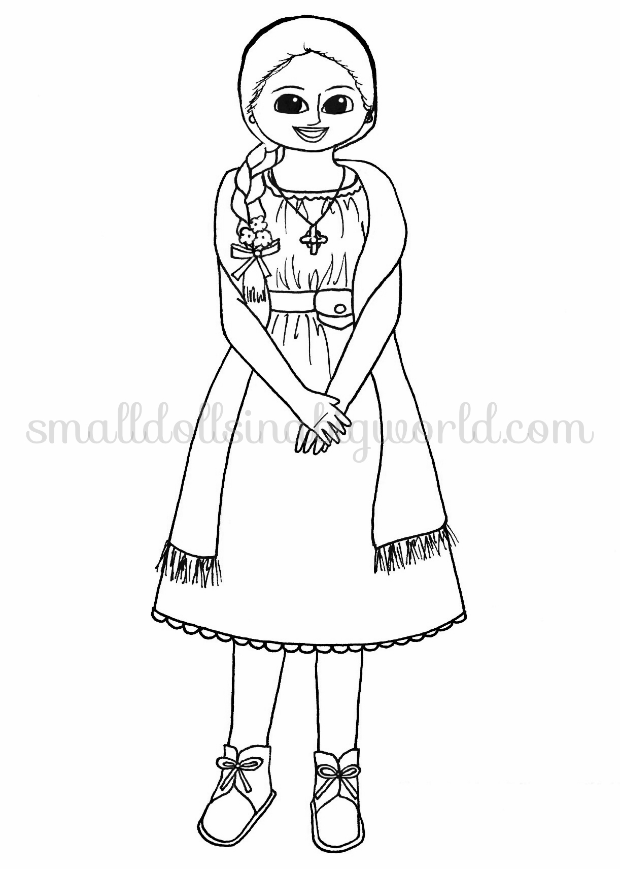 Big american girl coloring pages pictures to pin on for Big girl coloring pages